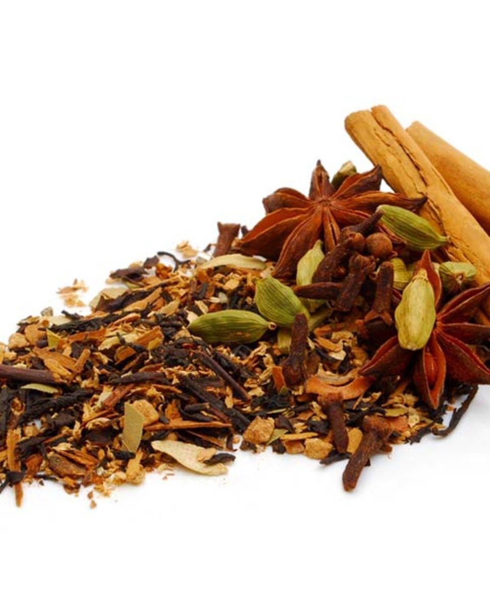 Gewürze für indischen Chai