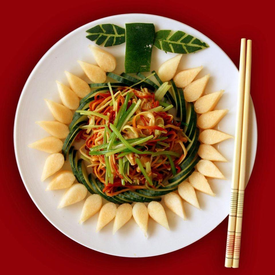 Die Hunan Küche ist ein Augenschmaus