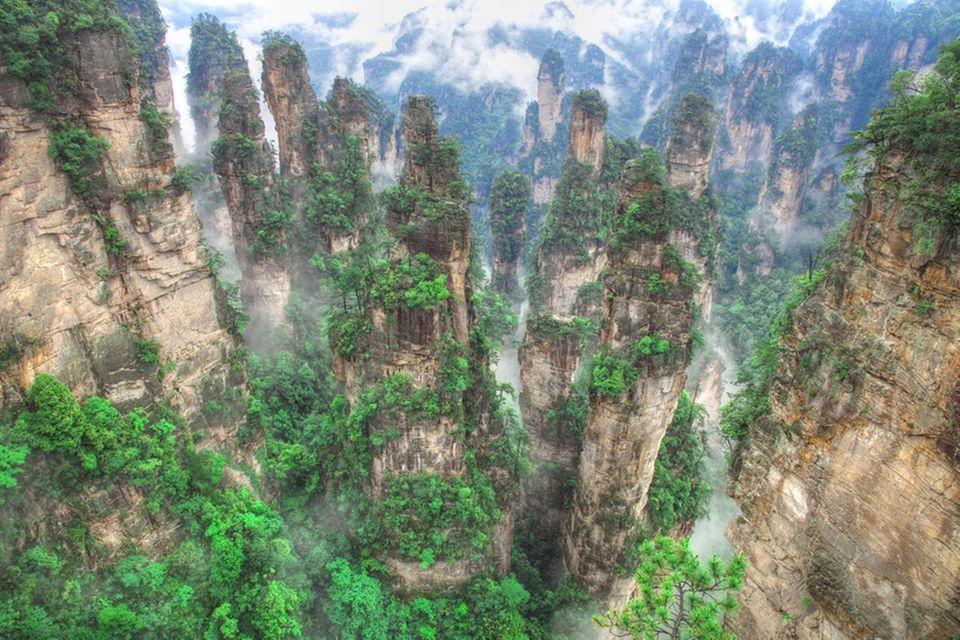 Diese Berge in Hunan wurden in Avatar Hallelujah Mountains umbenannt