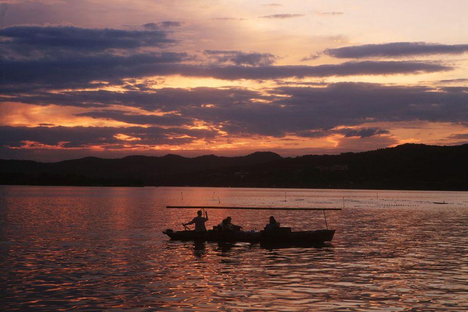 Fischer auf dem Westsee