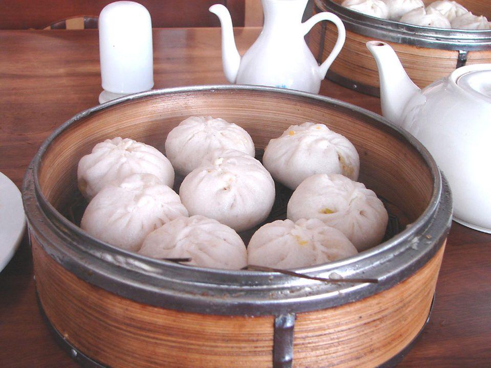 Baozi aus dem Dämpfkörbchen