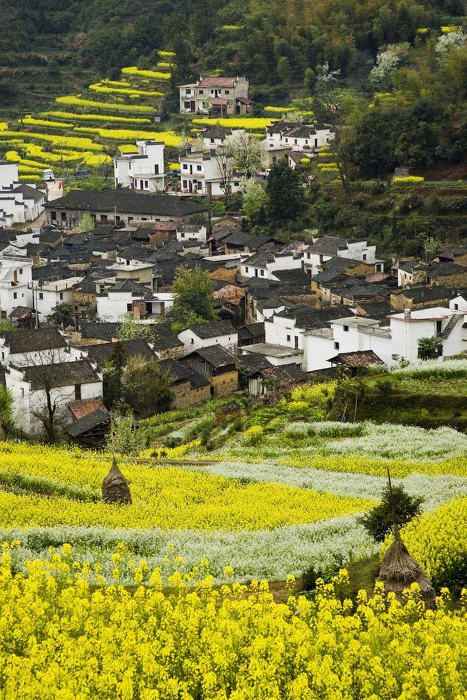 Dorf in der Provinz Anhui