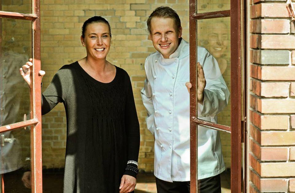 Neues Team im Kreuzberger Umspannwerk: Restaurantleiterin Patricia Caledero Böhme und Küchenchef Matthias Gleiß