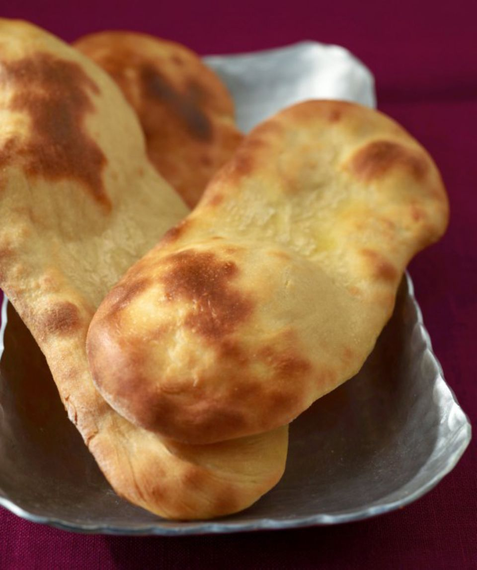 Beliebt in der indischen Küche: Naan-Brote