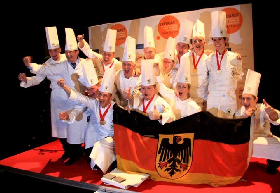 Großer Jubel Nationalmannschaft der Köche