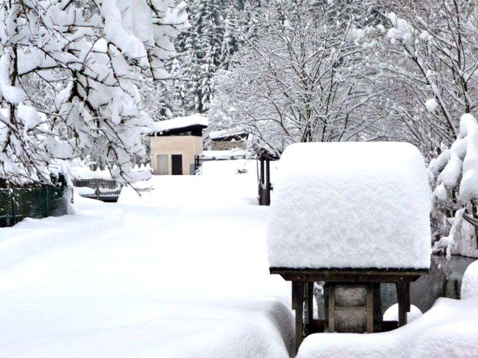 Im Winter ist das Gailtal tief verschneit