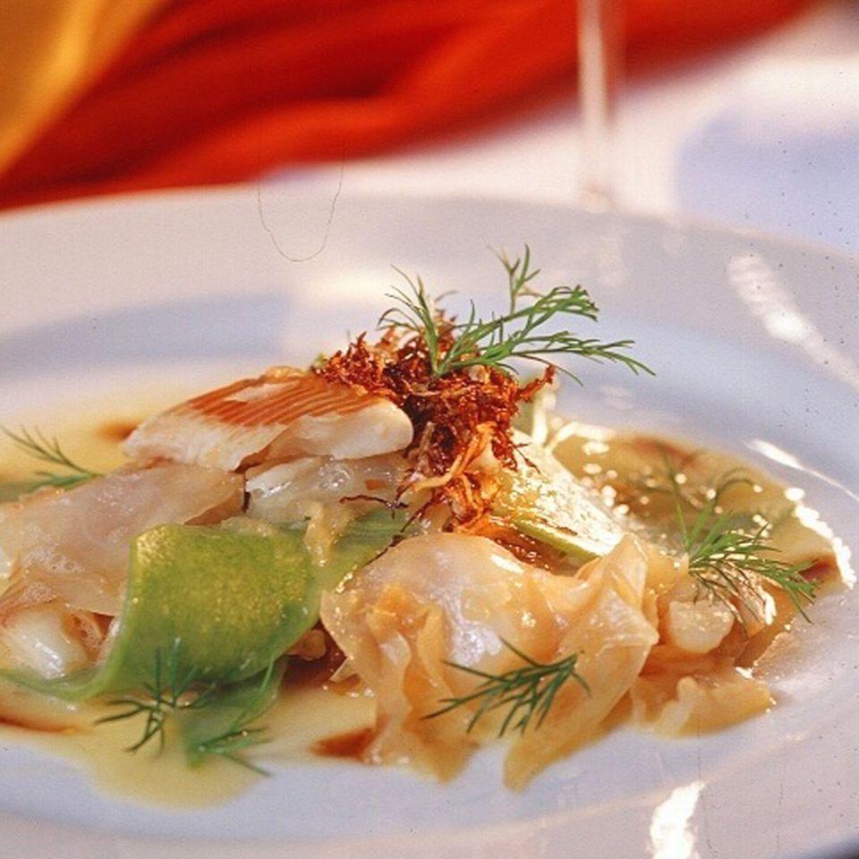 Süßwasserfisch, wie diese Forelle im Restaurant Kellerwand, ist nachhaltiger als Meeresfisch