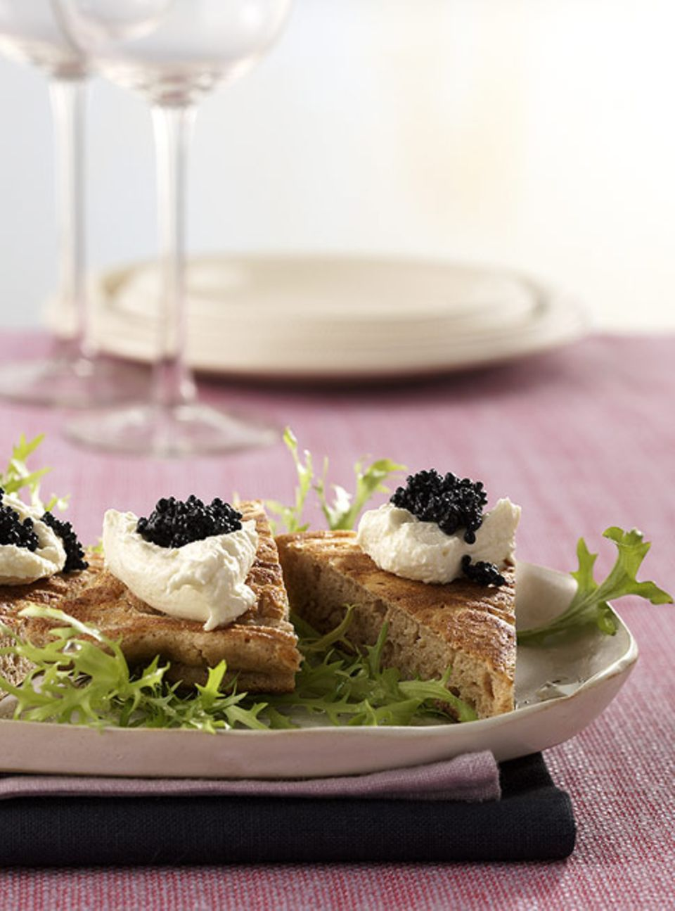 Falscher Blini mat Kaviar