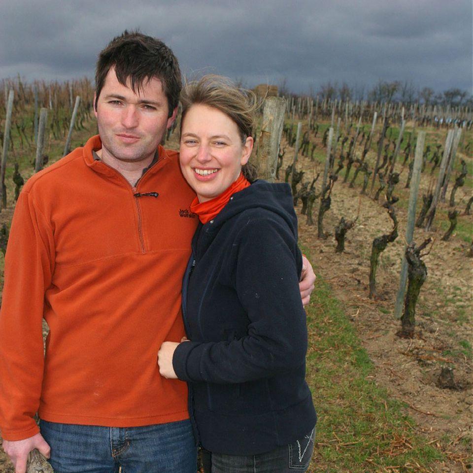 Klaus Peter Keller und seine Frau Julia Keller sind stolz auf ihre Weine