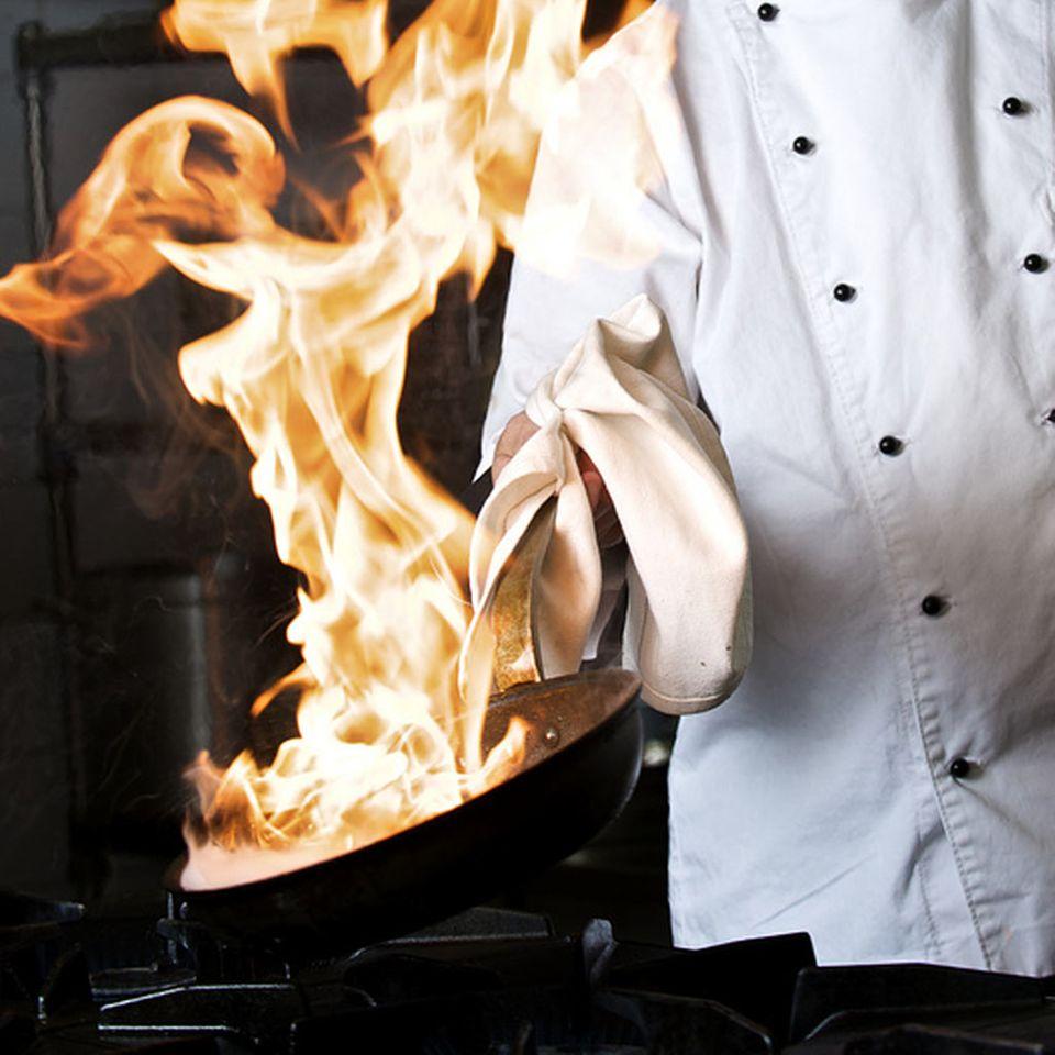 Flambieren verleiht Speisen ein besonderes Aroma