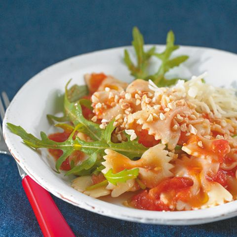 Pasta und Reis mit Tomatenmark