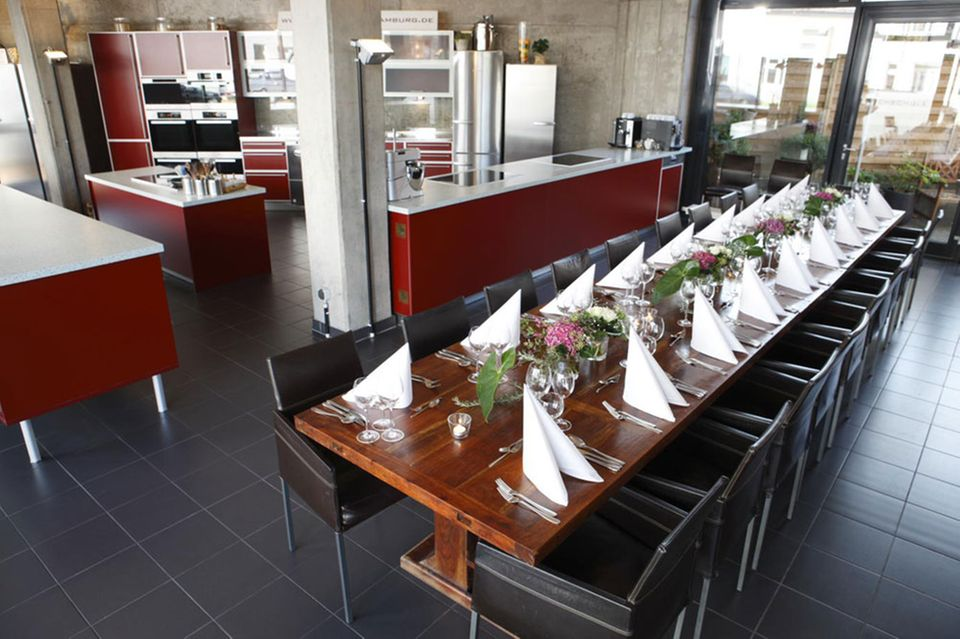 Die Küche der Kochschule Hamburg
