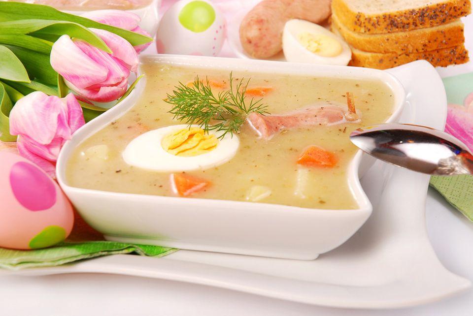 Zurek: klassische Ostersuppe aus Polen