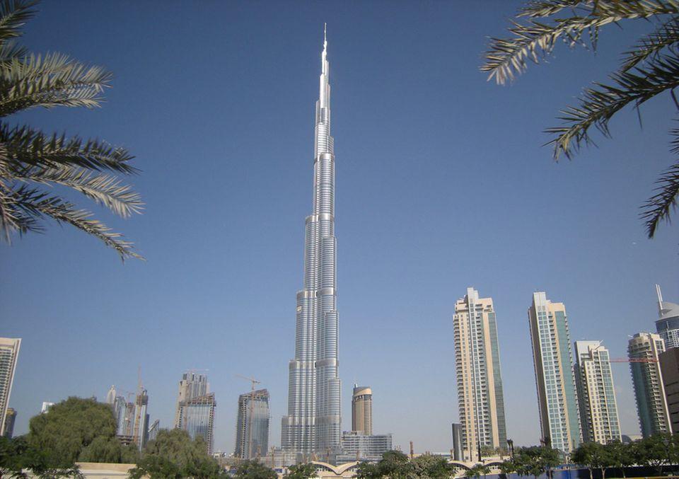 Das Burj Khalifa in Dubai ist das höchste Gebäude der Welt