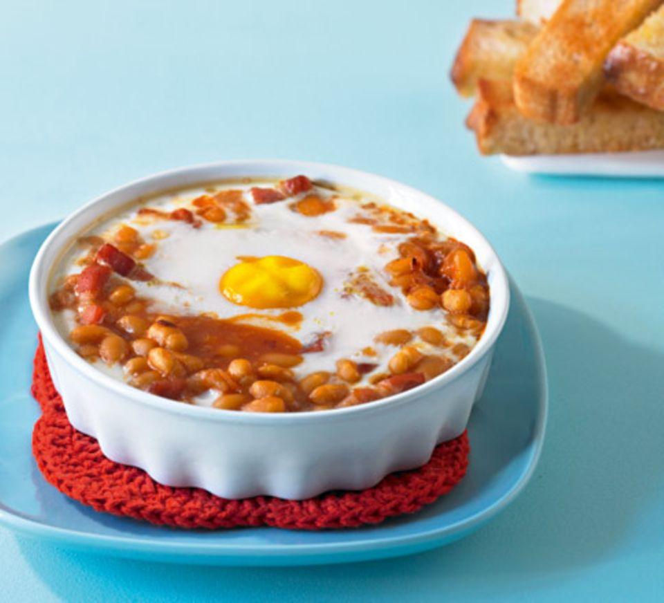 Baked Beans mit Spiegelei