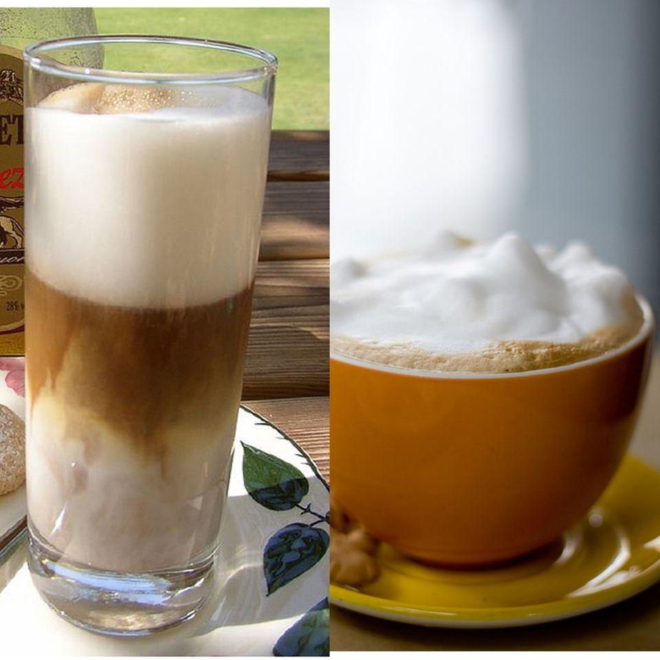Genießen Sie statt eines Latte Macchiatos besser einen fettarmen Cappuccino
