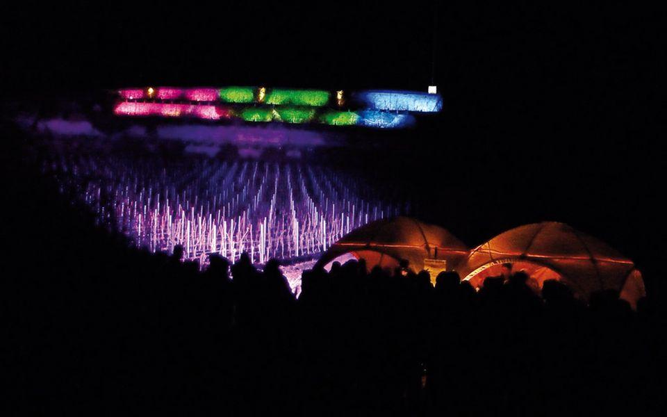 In der Weinbergnacht werden die Spitzenlagen bunt beleuchtet