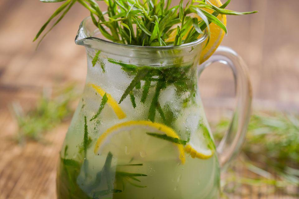 Estragon lässt sich auch wunderbar für Getränke verwenden, beispielsweise für Limonaden