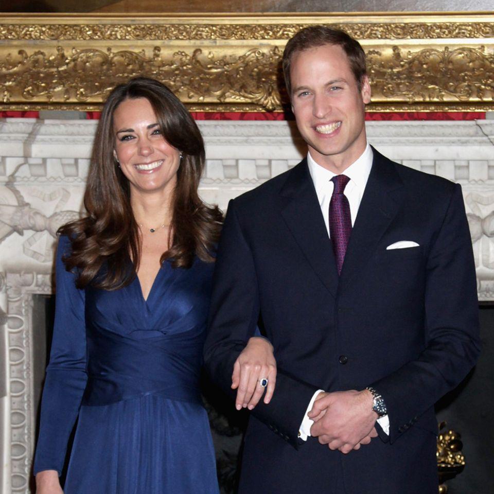 William und Kate bei der Verkündung ihrer Verlobung