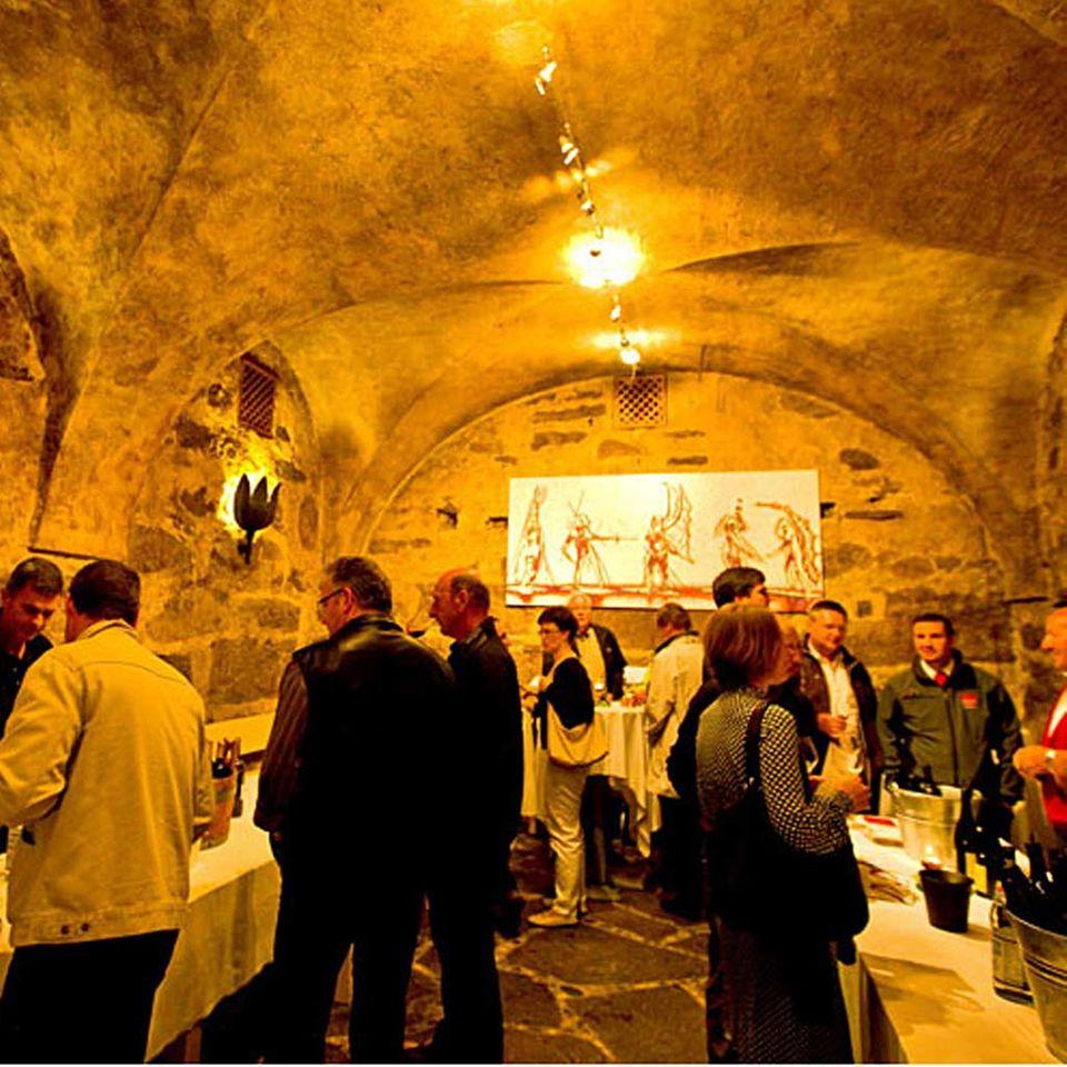 Weinprobe in Südtiroler Kellern