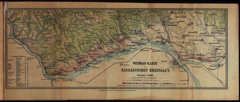 Die Weinlagenkarte von 1867 ist ein bedeutsamer Fund für die Weingeschichte