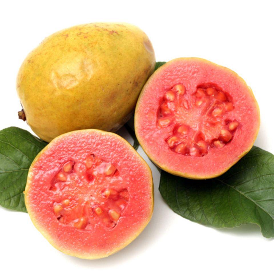 Reif sind Guaven, wenn sie eine gelbe Schale haben