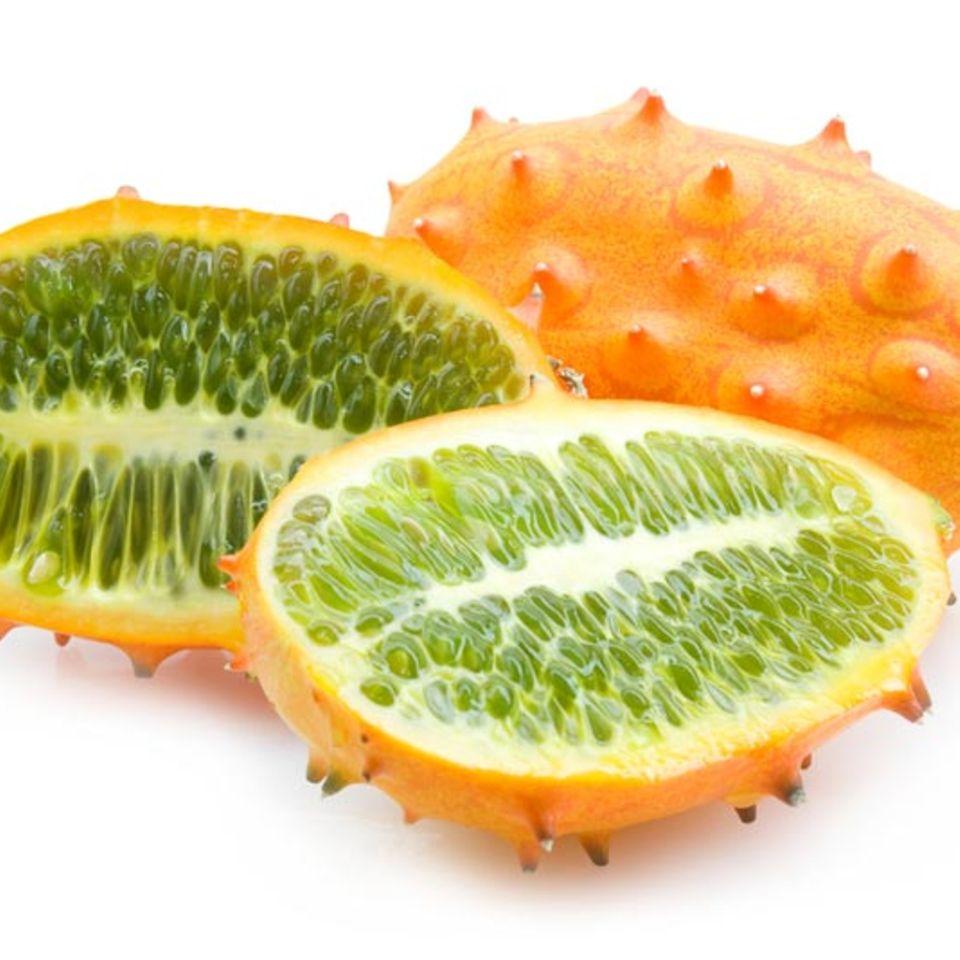 Die afrikanische Tropenfrucht Kiwano
