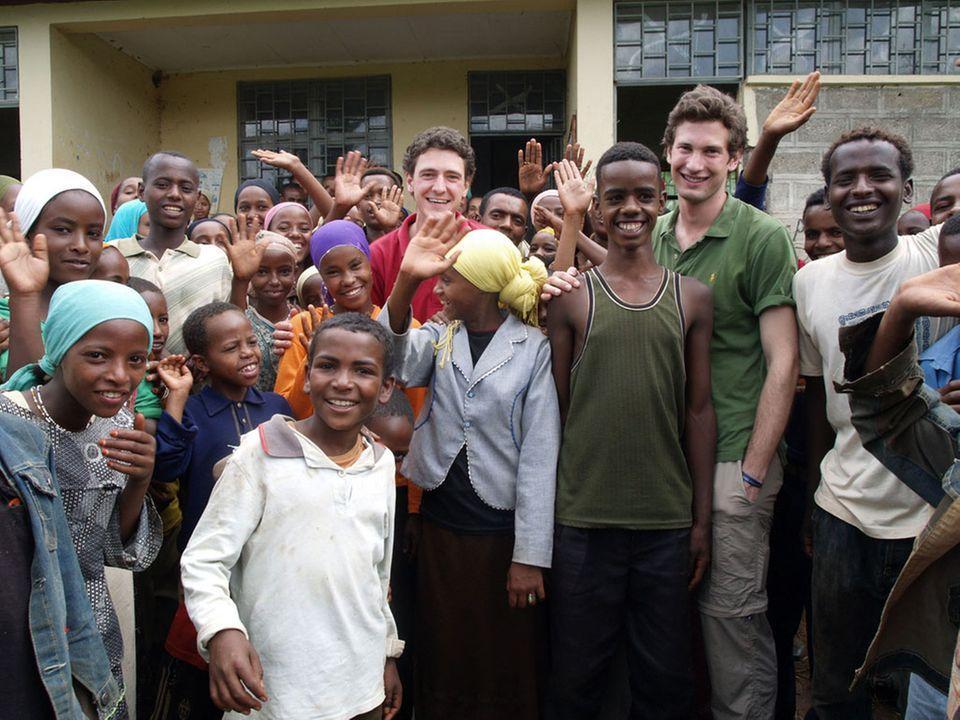 Martin und Moritz im äthiopischen Ilketunjo
