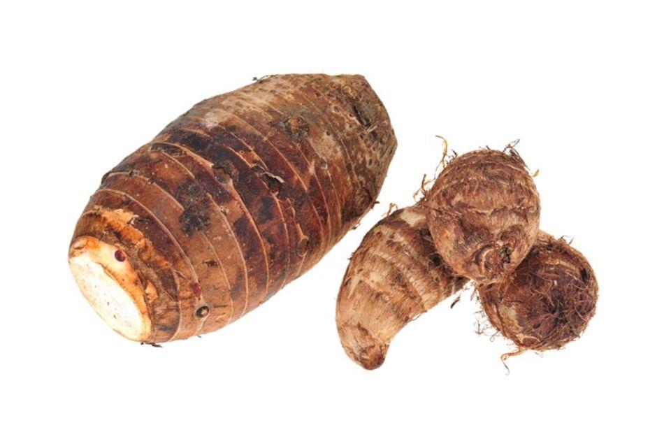 Verschiedene Arten der Yamswurzel