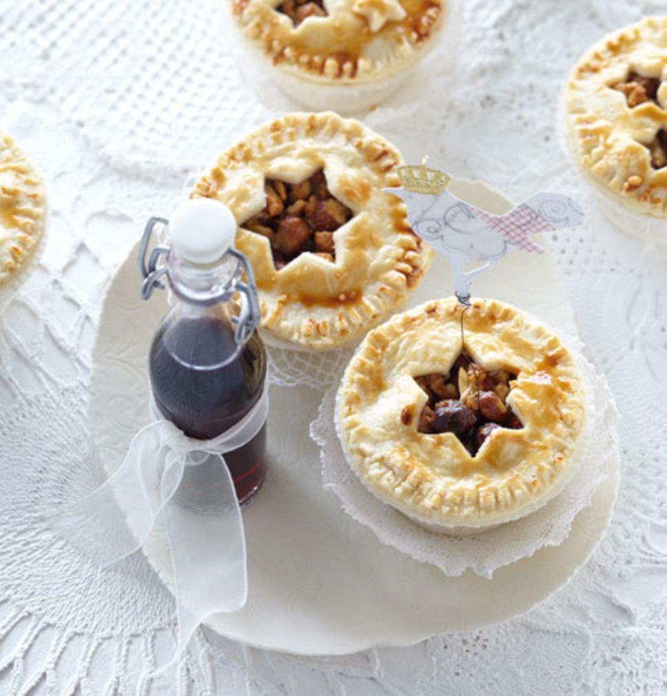 Eine Nuss-Pie ist eine leckere süße Variante