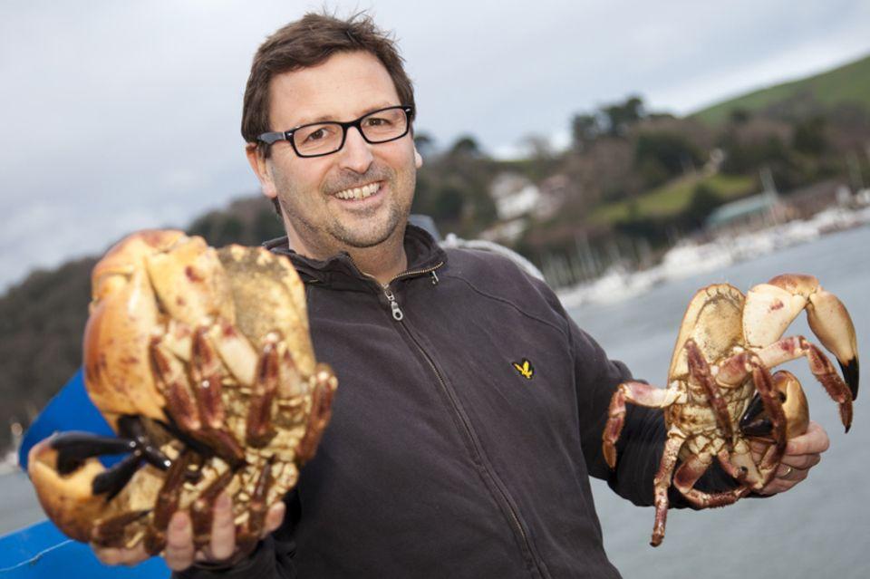 Der bekannte englische Koch Mitch Tonks hat das Crab Festival in South Devon mit initiiert