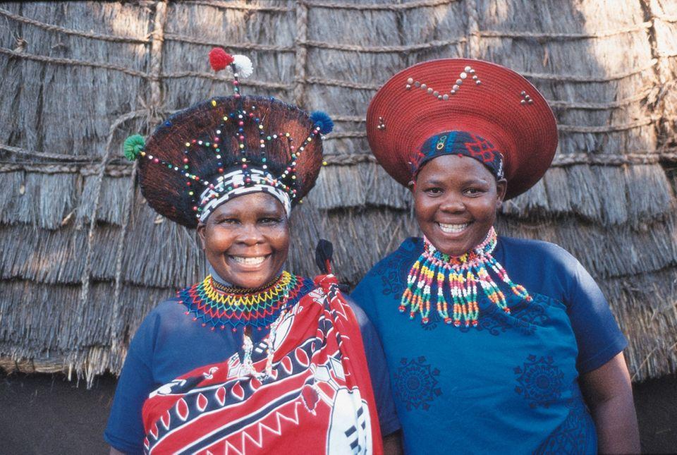Zulu-Frauen im Lesedi Cultural Village