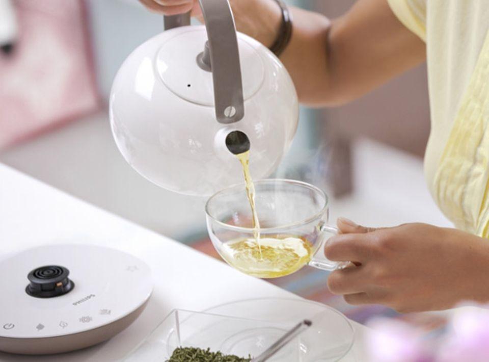 Teezubereitung auf Knopfdruck