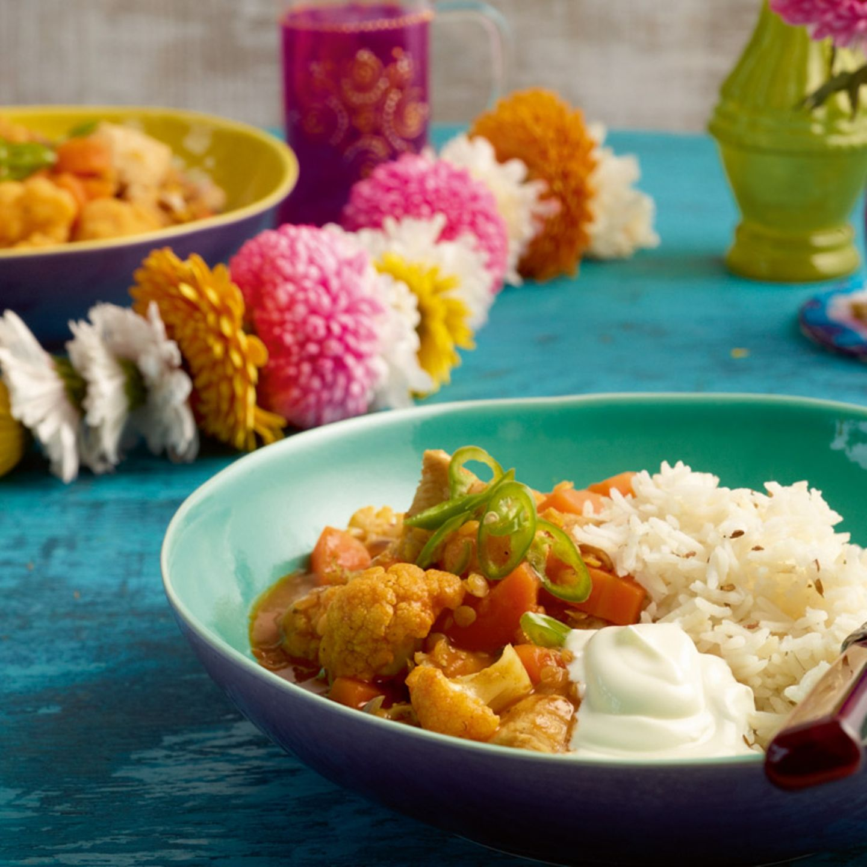 Indisches Menü