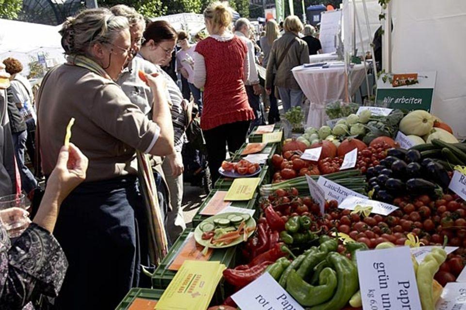 Naturprodukte werden beim Hamburger Event BioErleben sinnlich erfahrbar gemacht