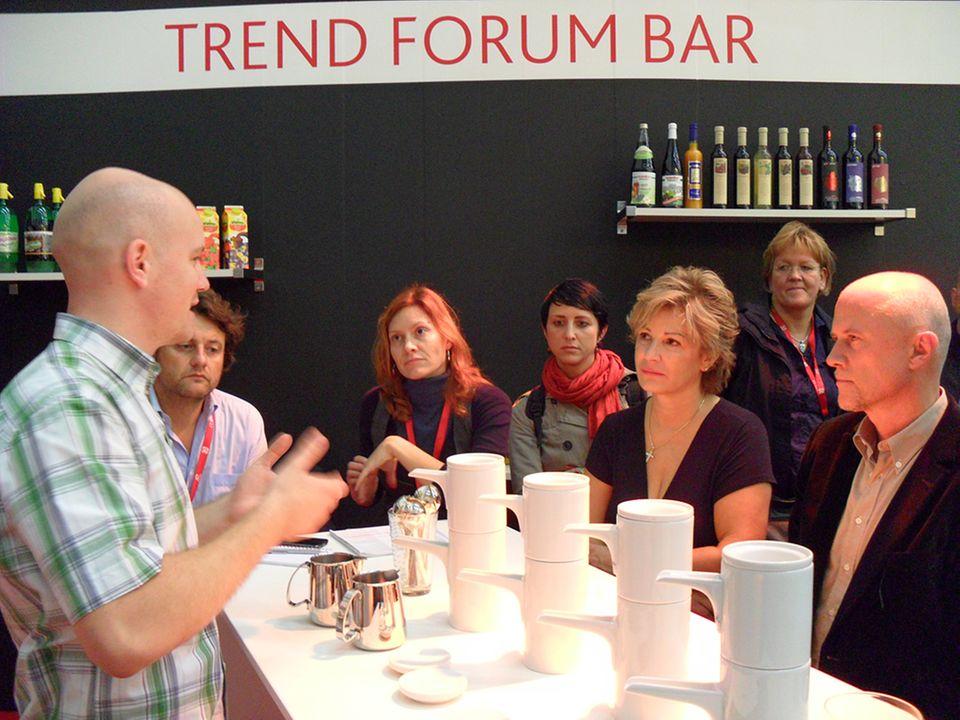 Kaffeeverkostung mit Patrick Sebening in der Trend Forum Bar