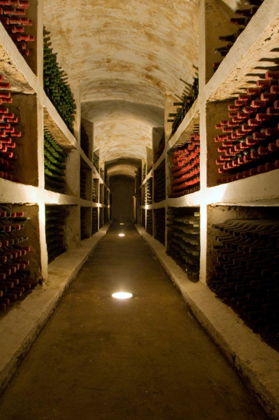 Manche Portwein-Sorten reifen in Flaschen