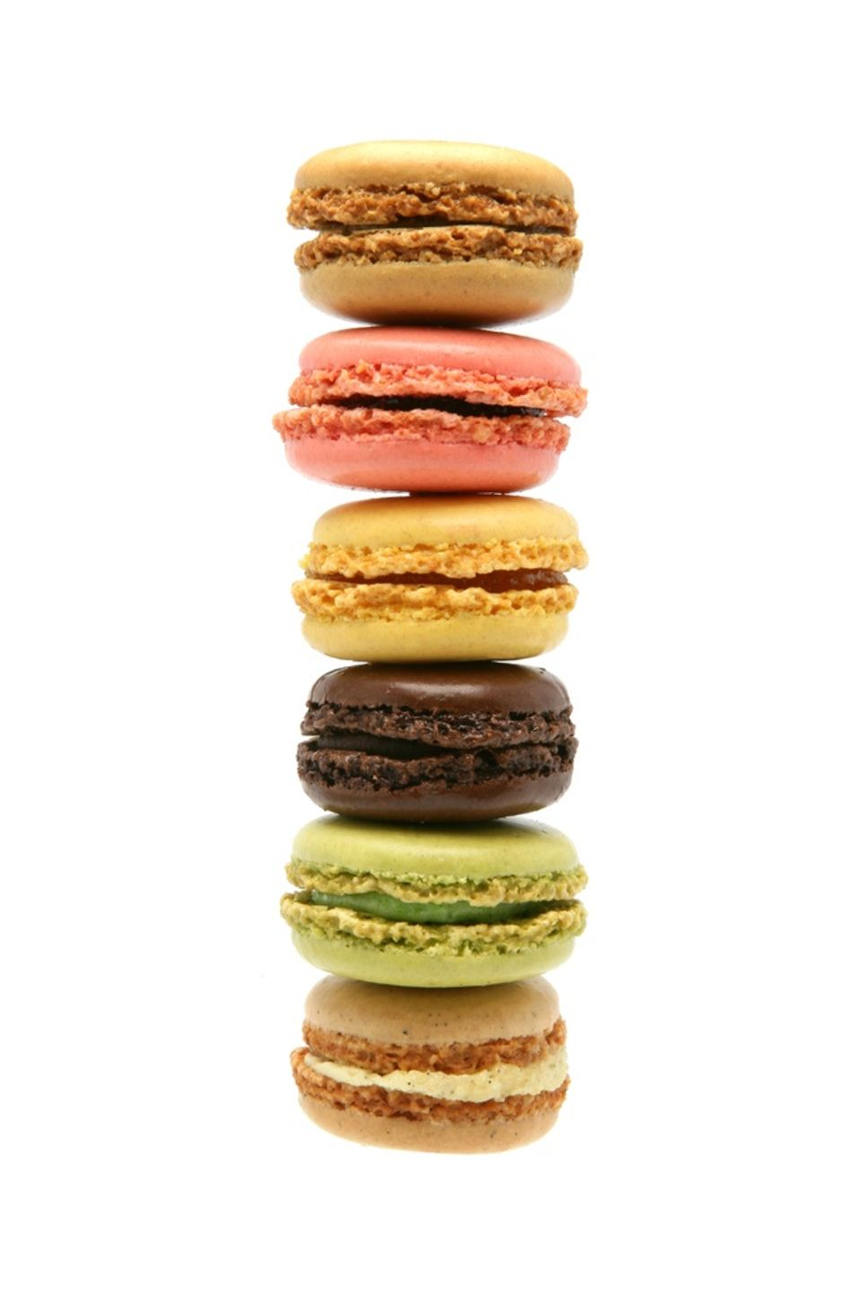 Stapelweise Macarons