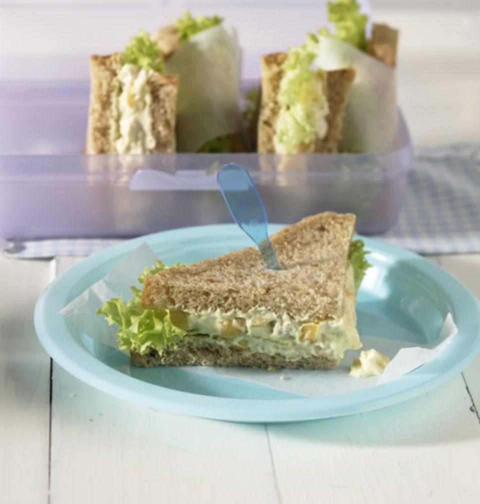 Ein fettarmes leichtes Sandwich ist ideal zum Mittagessen