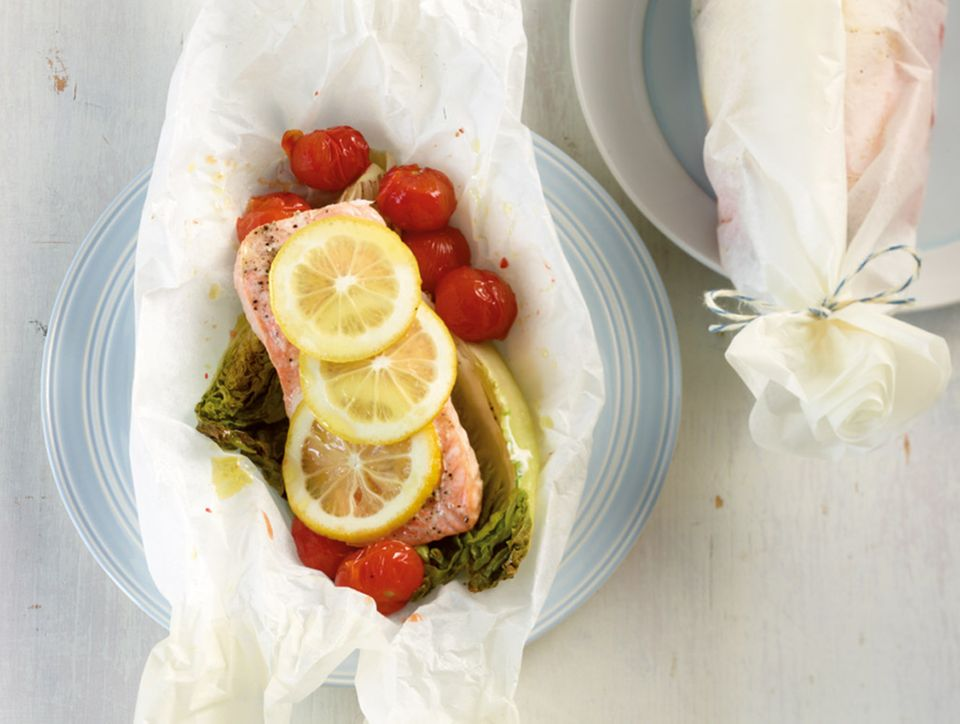 Im Päckchen gegarte Zutaten behalten ihre Nährstoffe, Farbe und Biss und haben ganz besonders viel Aroma