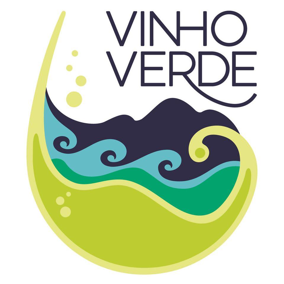 Das Vinho Verde-Logo zeigt sich in frischen Farben und spritziger Form – passend zu den Weinen, die es auszeichnet