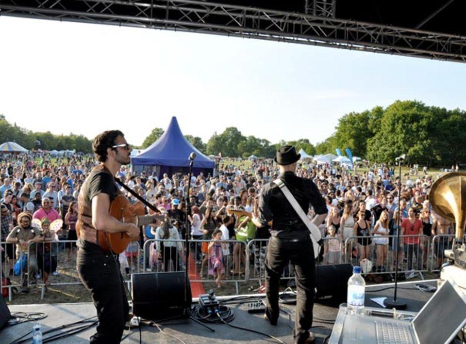 Live-Konzerte auf der London Green Fair