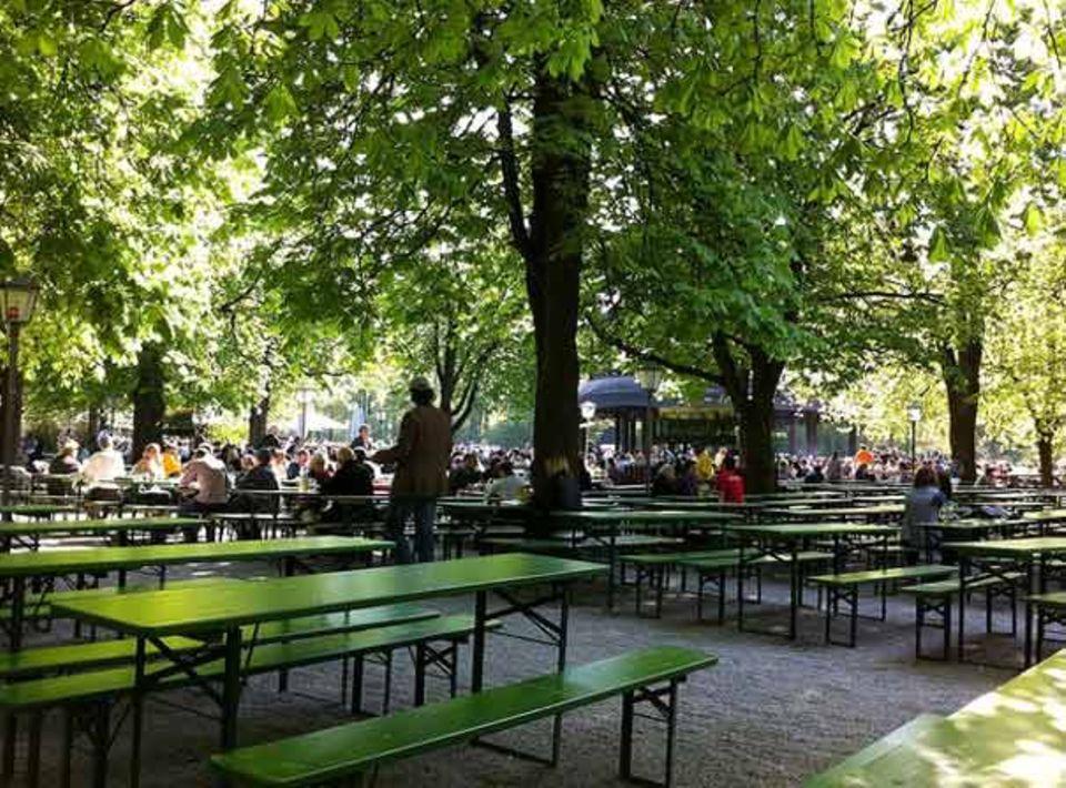 Typischer Biergarten in München