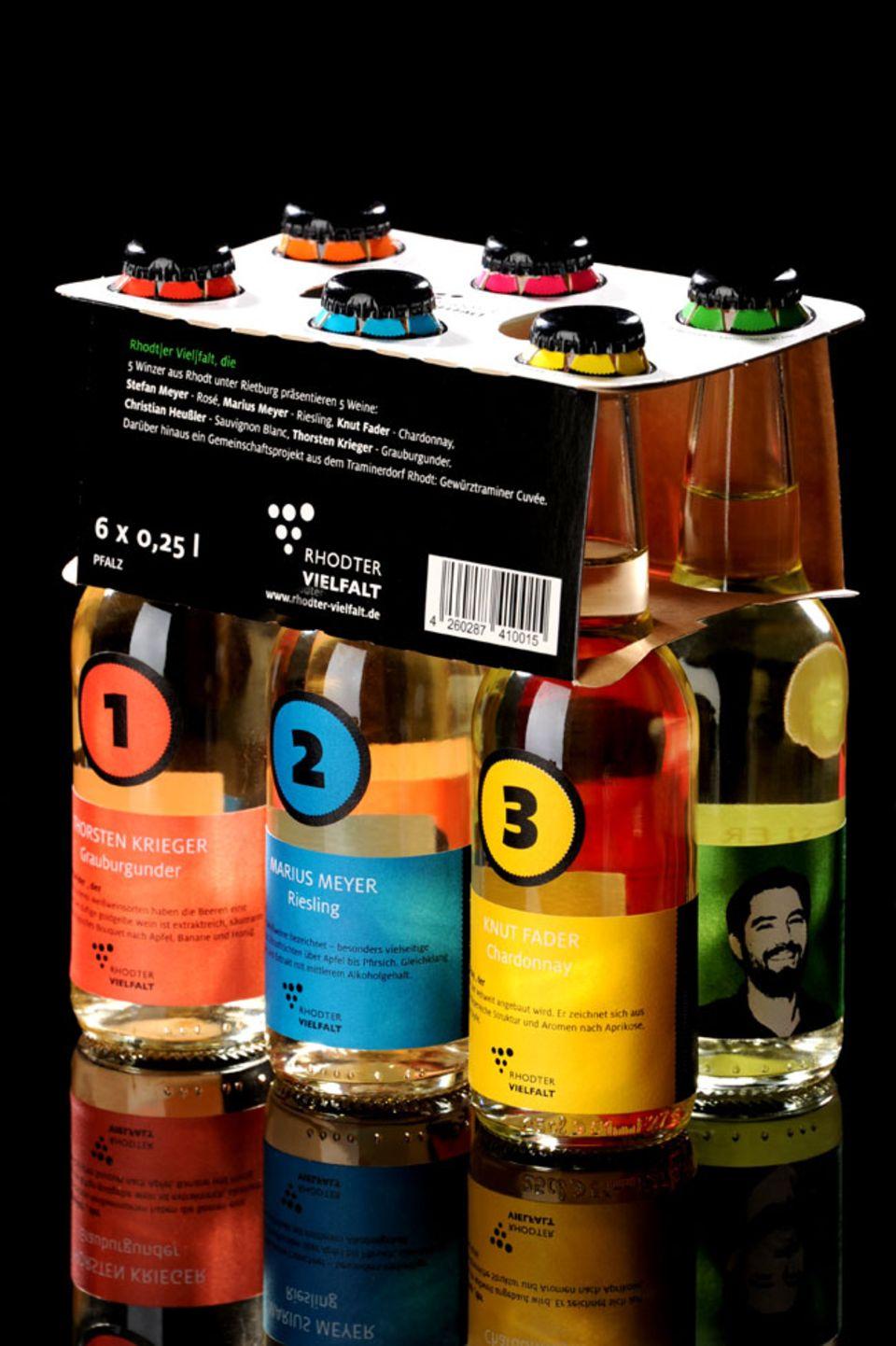 Wein im Sechserpack: Die Rhodter Vielfalt