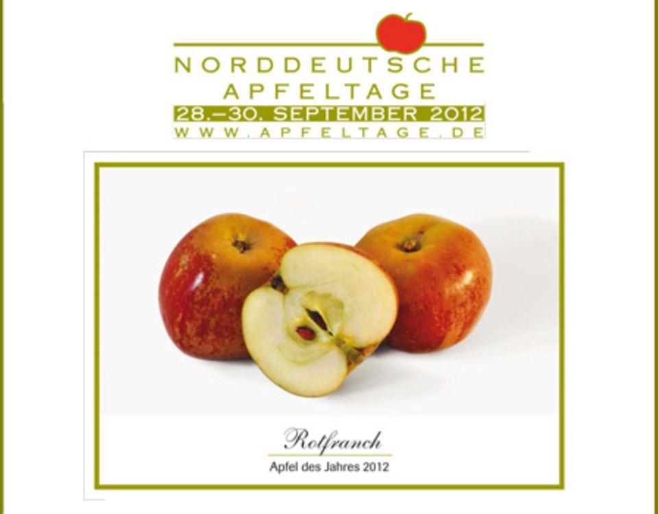 """Der """"Rotfranch"""" ist der Apfel des Jahres und steht im Mittelpunkt der Norddeutschen Apfeltage"""