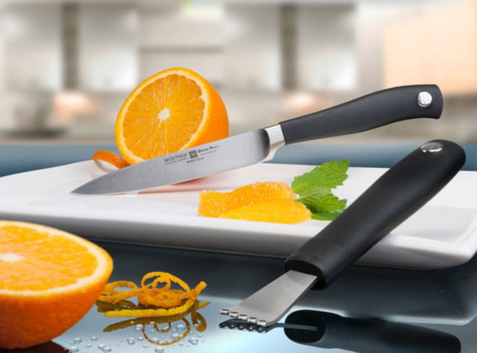 Apfelsinenschaber und Spickmesser von Wüsthof