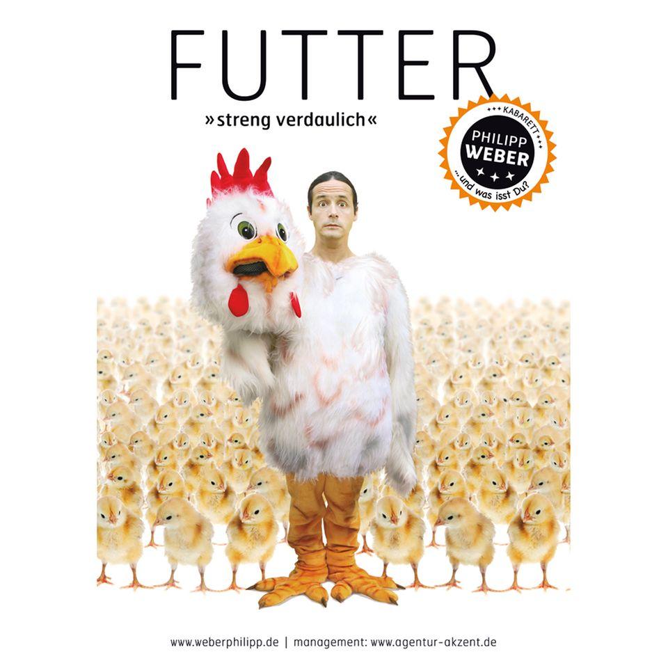 Saulustig: Philipp Weber mit seinem Programm Futter – streng verdaulich