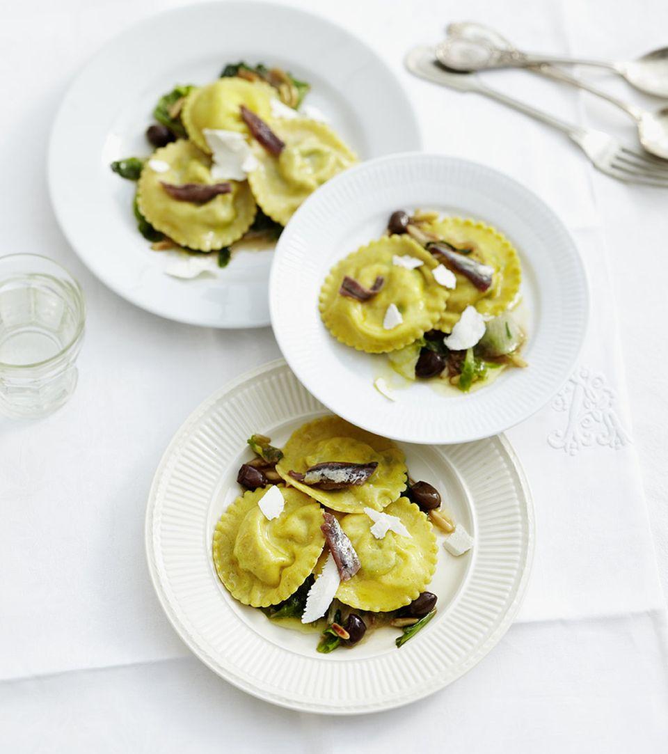 Aus Nudelteig lassen sich wunderbare Gerichte herstellen: zum Beispiel Ravioli