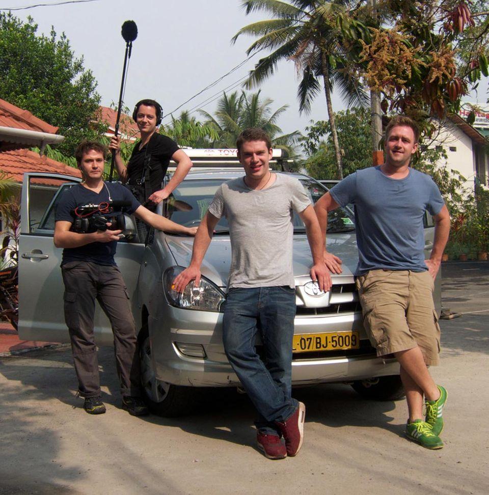 Die GUERILLA KÖCHE-Crew (Fabio Stoll, Jonas Gernstl, Max Jensen und Felix Metzger, v.l.n.r.)
