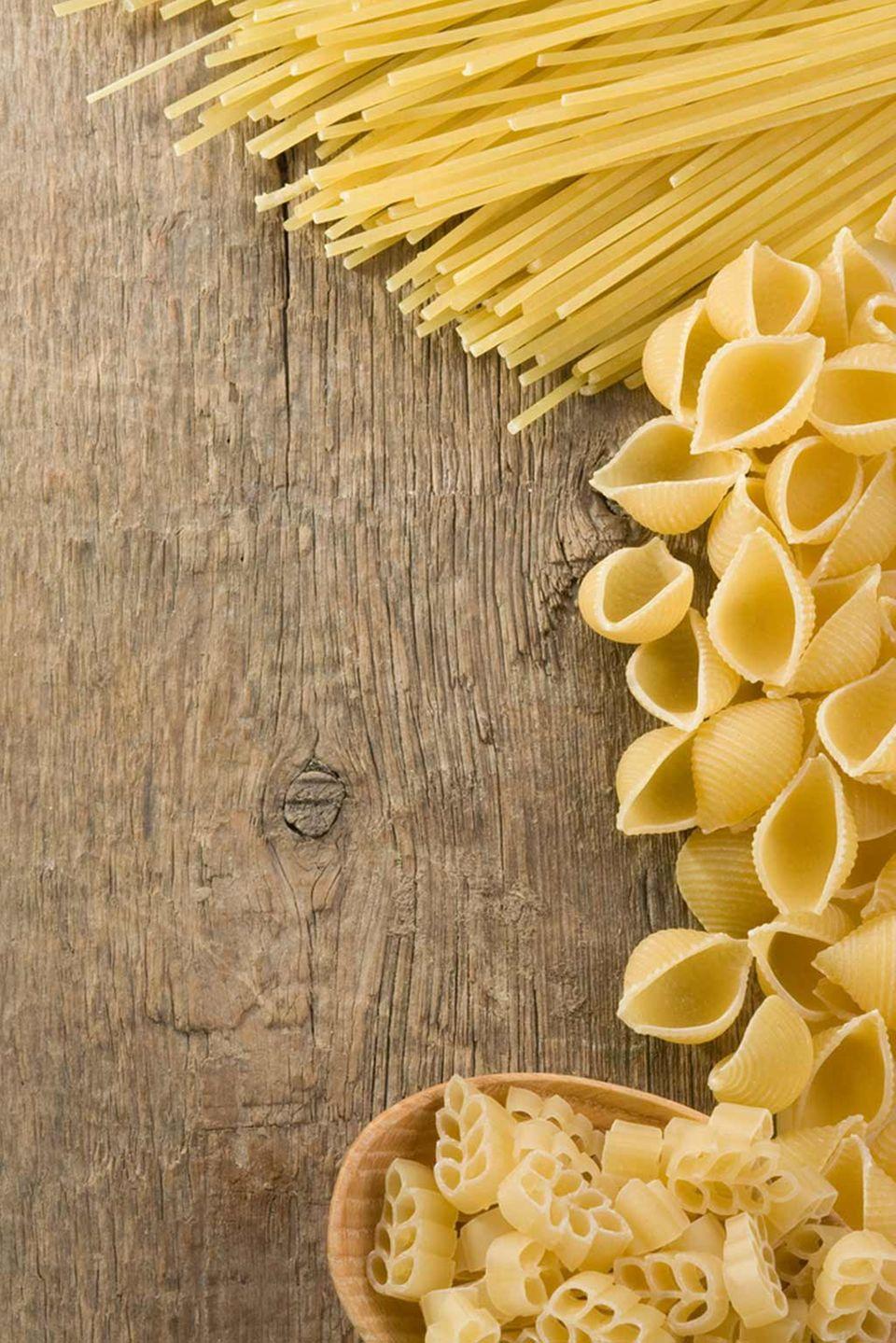 Pasta-Sorten gibt es in Hülle und Fülle